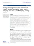 """Báo cáo sinh học: """" Dialogic meaning construction and emergent reading domains among four young English language learners in second-language reading Deoksoon Kim"""""""