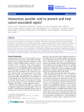 "Báo cáo sinh học: "" Intravenous ascorbic acid to prevent and treat cancer-associated sepsis?"""
