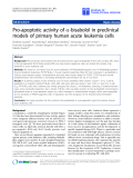 """Báo cáo sinh học: """"Pro-apoptotic activity of a-bisabolol in preclinical models of primary human acute leukemia cells"""""""