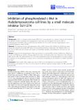 "Báo cáo sinh học: "" Inhibition of phosphorylated c-Met in rhabdomyosarcoma cell lines by a small molecule inhibitor SU11274"""