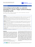 """Báo cáo sinh học: """"Immunological abnormalities as potential biomarkers in Chronic Fatigue Syndrome/Myalgic Encephalomyelitis"""""""
