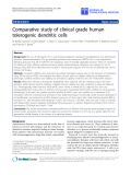 """Báo cáo sinh học: """"Comparative study of clinical grade human tolerogenic dendritic """""""