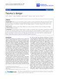 "Báo cáo sinh học: "" Trauma is danger"""