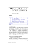 Radionuclide Concentrations in Foor and the Environment - Chapter 7