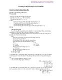 Chuyên đề ôn thi Lý: Chương 1. Động học chất điểm