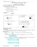 Lý thuyết và bài tập Vật lý 10-Động học chất điểm