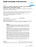 """báo cáo hóa học: """" Impact of a child with congenital anomalies on parents (ICCAP) questionnaire; a psychometric analysis"""""""