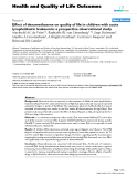 "báo cáo hóa học: "" Effect of dexamethasone on quality of life in children with acute lymphoblastic leukaemia: a prospective observational study"""