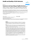 """báo cáo hóa học: """"   Development of the Knee Quality of Life (KQoL-26) 26-item questionnaire: data quality, reliability, validity and responsiveness"""""""