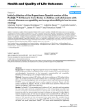 """báo cáo hóa học: """"  Initial validation of the Argentinean Spanish version of the PedsQL™ 4.0 Generic Core Scales in children and adolescents with chronic diseases: acceptability and comprehensibility in low-income settings"""""""