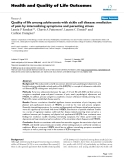"""báo cáo hóa học: """"   Quality of life among adolescents with sickle cell disease: mediation of pain by internalizing symptoms and parenting stress"""""""