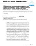 """báo cáo hóa học: """"  Comparison of the discriminative ability of a generic and a condition-specific OHRQoL measure in adolescents with and without normative need for orthodontic treatment"""""""