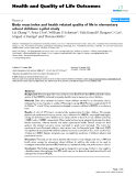 "báo cáo hóa học: ""   Body mass index and health related quality of life in elementary school children: a pilot study"""
