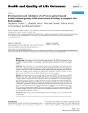 """báo cáo hóa học: """"   Development and validation of a French patient-based health-related quality of life instrument in kidney transplant: the ReTransQoL"""""""