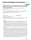 "báo cáo hóa học: "" Logistic feasibility of health related quality of life measurement in clinical practice: results of a prospective study in a large population of chronic liver patients"""