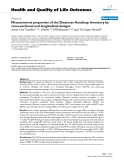 """báo cáo hóa học: """" Measurement properties of the Dizziness Handicap Inventory by cross-sectional and longitudinal designs"""""""