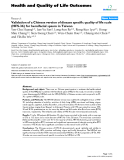 """báo cáo hóa học: """" Validation of a Chinese version of disease specific quality of life scale (HFS-36) for hemifacial spasm in Taiwan"""""""
