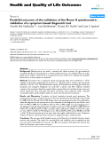 "báo cáo hóa học: ""  Doubtful outcome of the validation of the Rome II questionnaire: validation of a symptom based diagnostic tool"""