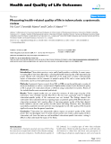 """báo cáo hóa học: """"   Measuring health-related quality of life in tuberculosis: a systematic review"""""""