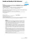 """báo cáo hóa học: """"  The Psychosocial Screen for Cancer (PSSCAN): Further validation and normative data"""""""