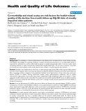 """báo cáo hóa học: """"   Co-morbidity and visual acuity are risk factors for health-related quality of life decline: five-month follow-up EQ-5D data of visually impaired older patients"""""""