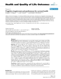 """báo cáo hóa học: """"  Cognitive impairment and preferences for current health"""""""