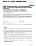 """báo cáo hóa học: """"   Factors influencing quality of life in Moroccan postmenopausal women with osteoporotic vertebral fracture assessed by ECOS 16 questionnaire"""""""