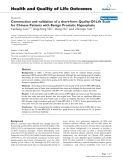 """báo cáo hóa học: """"   Construction and validation of a short-form Quality-Of-Life Scale for Chinese Patients with Benign Prostatic Hyperplasia"""""""
