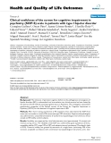 """báo cáo hóa học: """"  Clinical usefulness of the screen for cognitive impairment in psychiatry (SCIP-S) scale in patients with type I bipolar disorder"""""""