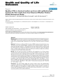 """báo cáo hóa học: """" Quality of life in chemical warfare survivors with ophthalmologic injuries: the first results form Iran Chemical Warfare Victims Health Assessment Study"""""""