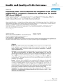"""báo cáo hóa học: """" Population norms and cut-off-points for suboptimal health related quality of life in two generic measures for adolescents: the Spanish VSP-A and KINDL-R"""""""