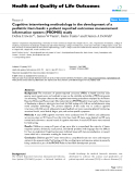 "báo cáo hóa học: ""  Cognitive interviewing methodology in the development of a pediatric item bank: a patient reported outcomes measurement information system (PROMIS) study"""