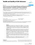 """báo cáo hóa học: """"  Factor structure of the Hospital Anxiety and Depression Scale in Japanese psychiatric outpatient and student populations"""""""