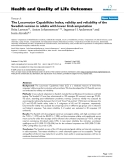 """báo cáo hóa học: """" The Locomotor Capabilities Index; validity and reliability of the Swedish version in adults with lower limb amputation"""""""