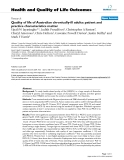 "báo cáo hóa học: "" Quality of life of Australian chronically-ill adults: patient and practice characteristics matter"""