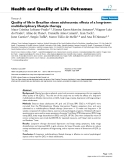 """báo cáo hóa học: """"Quality of life in Brazilian obese adolescents: effects of a long-term multidisciplinary lifestyle therapy"""""""