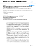 """báo cáo hóa học: """"Evaluation of the impact of fibromyalgia on patients' sleep and the content validity of two sleep scales"""""""