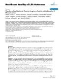 "báo cáo hóa học: ""  Cardiac rehabilitation in Austria: long term health-related quality of life outcomes"""