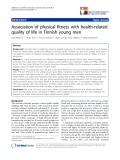 "báo cáo hóa học: ""   Association of physical fitness with health-related quality of life in Finnish young men"""