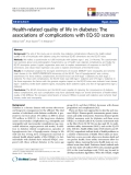 "báo cáo hóa học: ""  Health-related quality of life in diabetes: The associations of complications with EQ-5D scores"""
