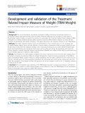 "báo cáo hóa học: ""  Development and validation of the Treatment Related Impact Measure of Weight (TRIM-Weight)"""
