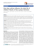 """báo cáo hóa học: """"   How does asthma influence the daily life of children? Results of focus group interviews"""""""