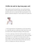 10 điều cho mái tóc đẹp trong ngày cưới