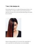 7 lưu ý khi nhuộm tóc