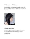 Chải tóc cũng phải học!