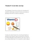 Vitamin D và sức khỏe của bạn