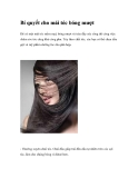 Bí quyết cho mái tóc bóng mượt