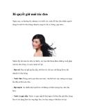 Bí quyết giữ mái tóc đen