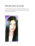 Khắc phục mái tóc yếu xỉn màu