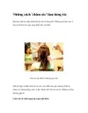 Những cách 'chăm sóc' làm hỏng tóc